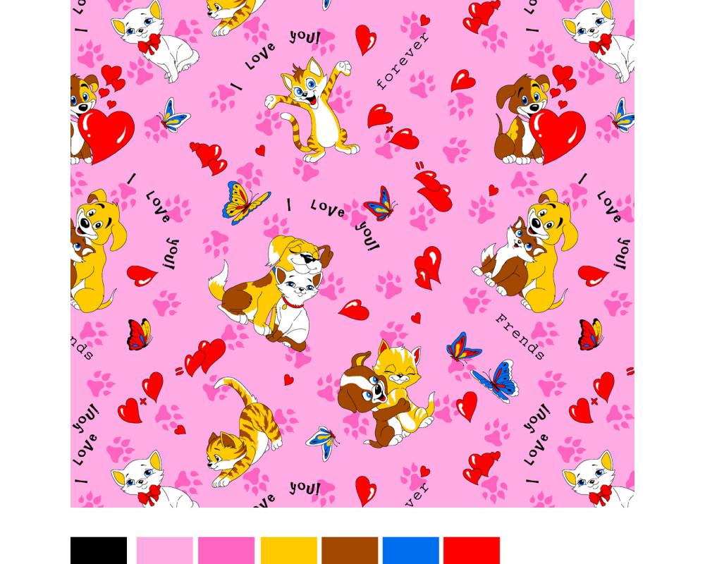 Постельное белье 26-3 Верные друзья розовый