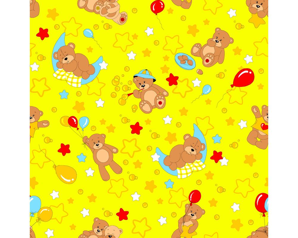 Постельное белье 350-5 Мишки желтые