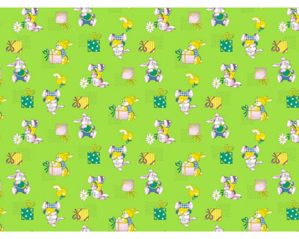 Постельное белье 598-2 Братцы кролики зеленый