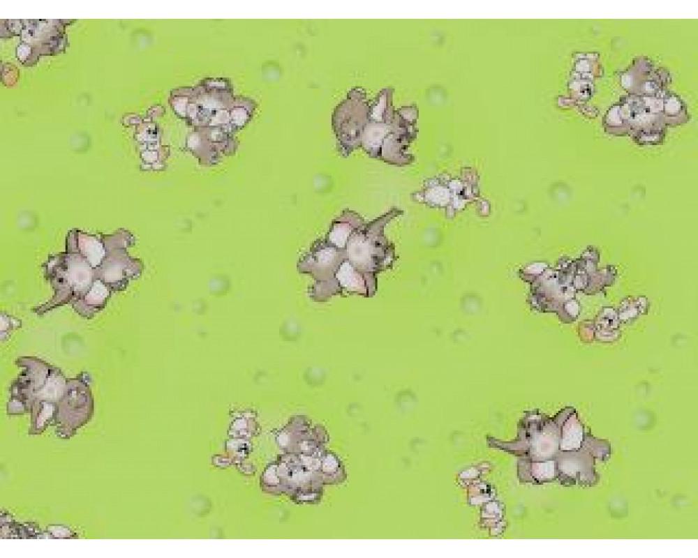 Постельное белье 1285-3 Мамонтенок зеленый