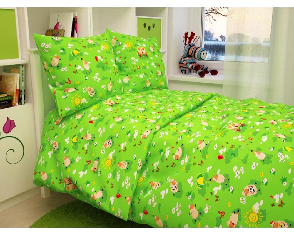 Постельное белье 317-3 Овечки зеленые