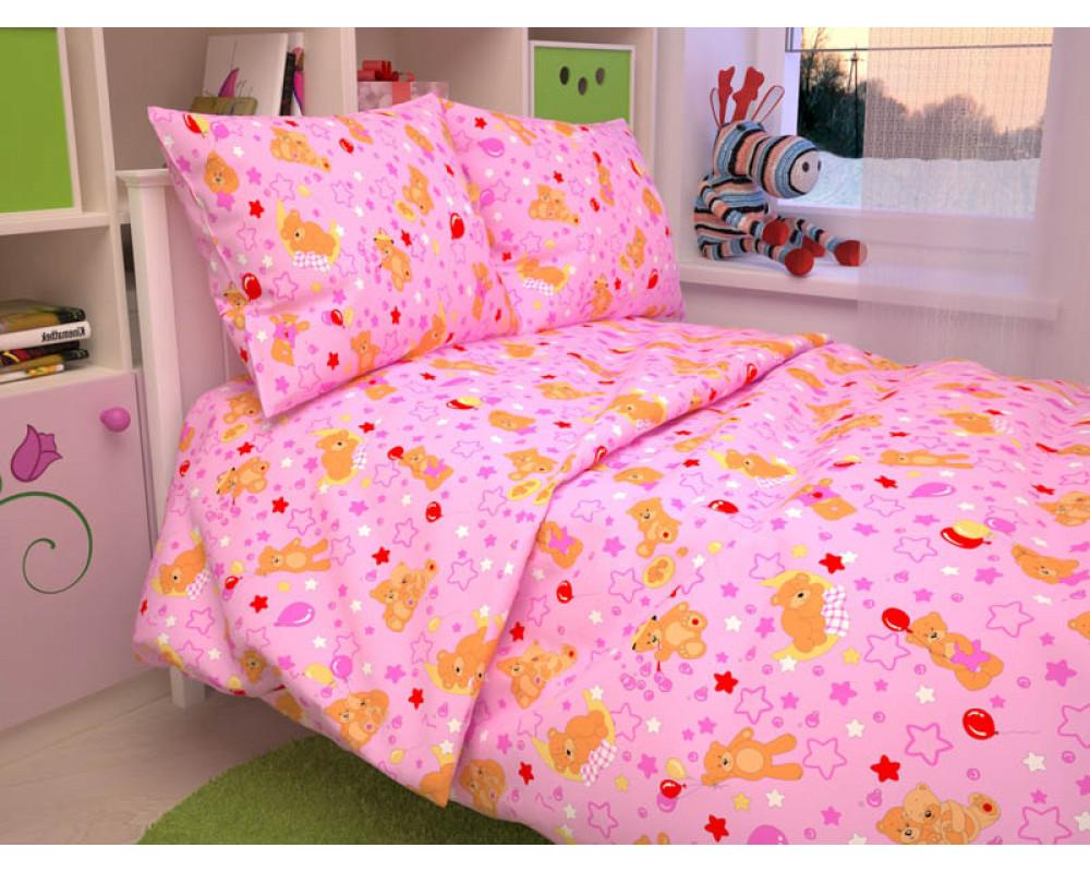 Постельное белье 350-3 Мишки розовые