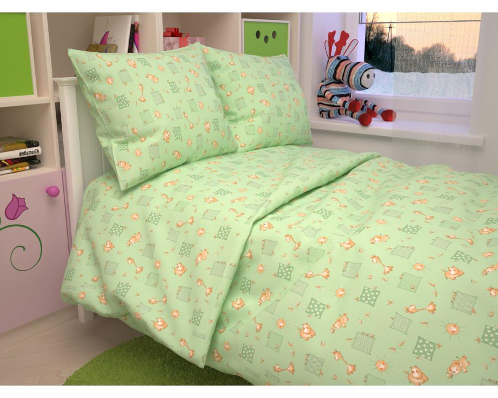 Постельное белье 366-2 Жирафики зеленые