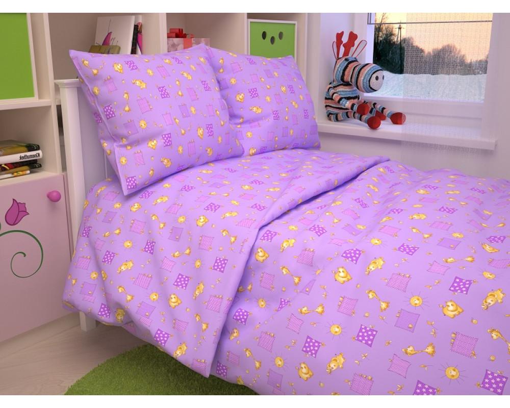 Постельное белье 366-5 Жирафики фиолетовые