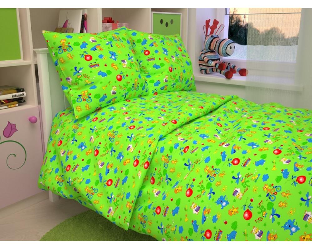 Постельное белье 42-1 Зоопарк зеленый