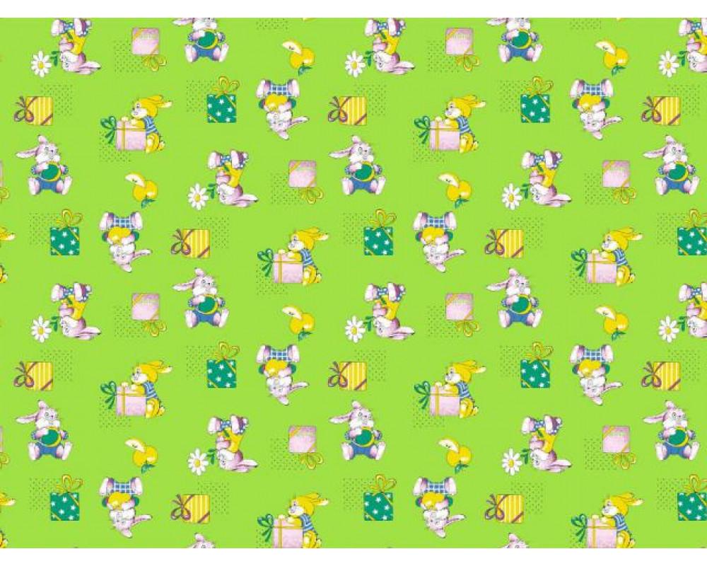 Постельное белье 598-2 Братцы кролики зеленые