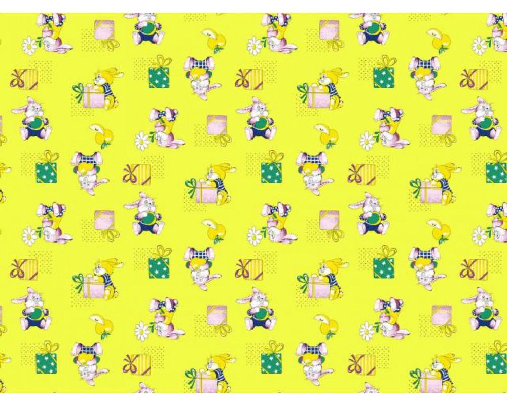 Постельное белье 598-3 Братцы кролики желтые