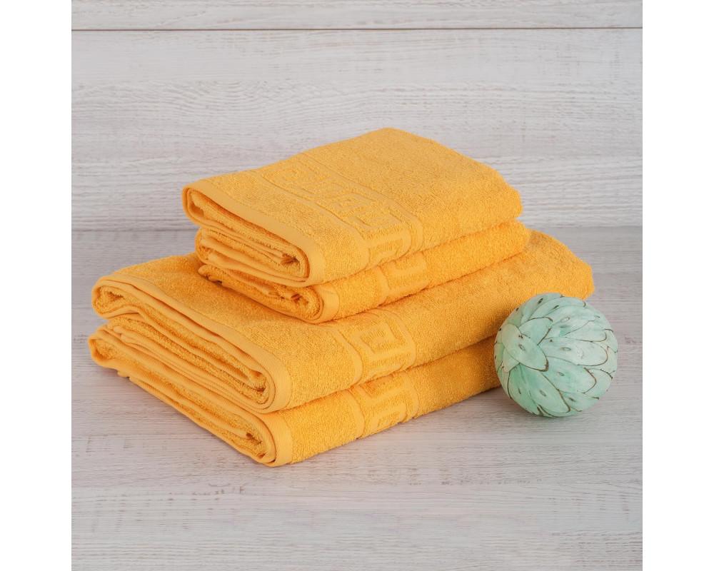 Полотенце махровое 420г мандариновое