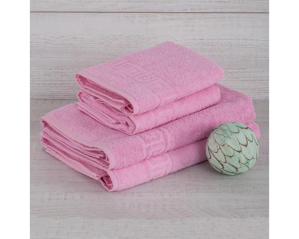 Полотенце махровое 420г розовое
