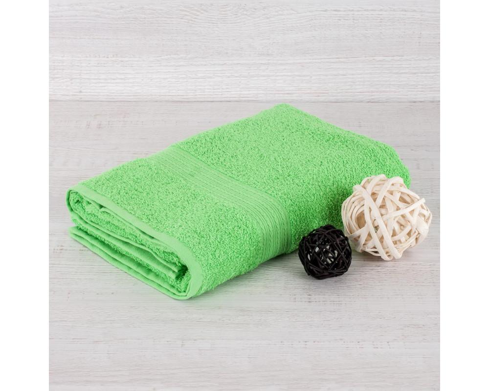Полотенце махровое 420г салатовое