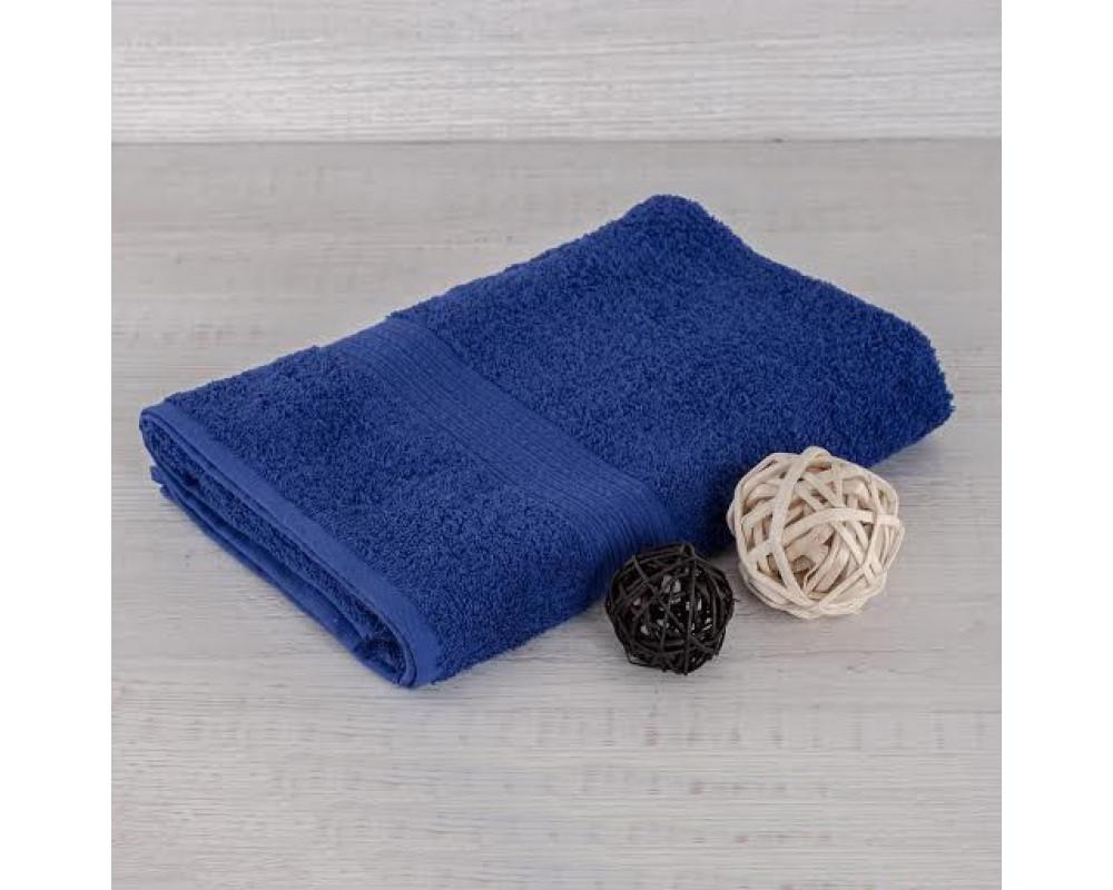 Полотенце махровое 380г синее