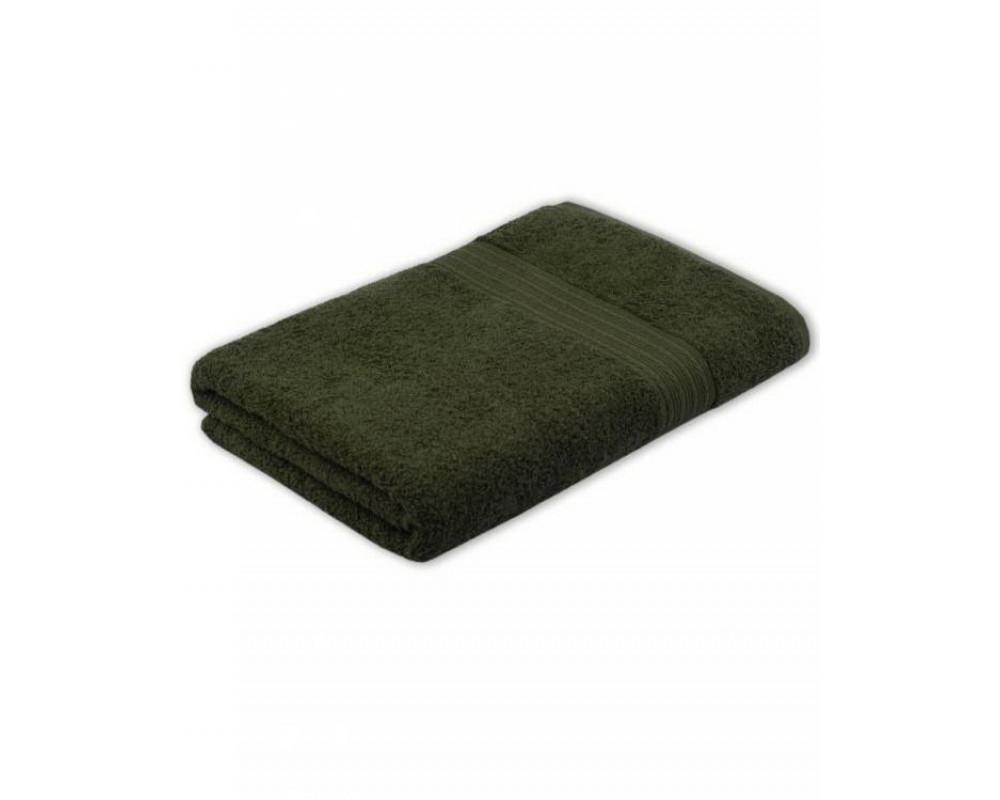 Полотенце махровое 420г темно-оливковое