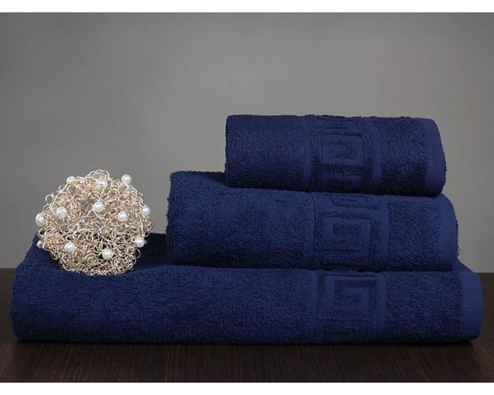 Полотенце махровое 420г темно-синее