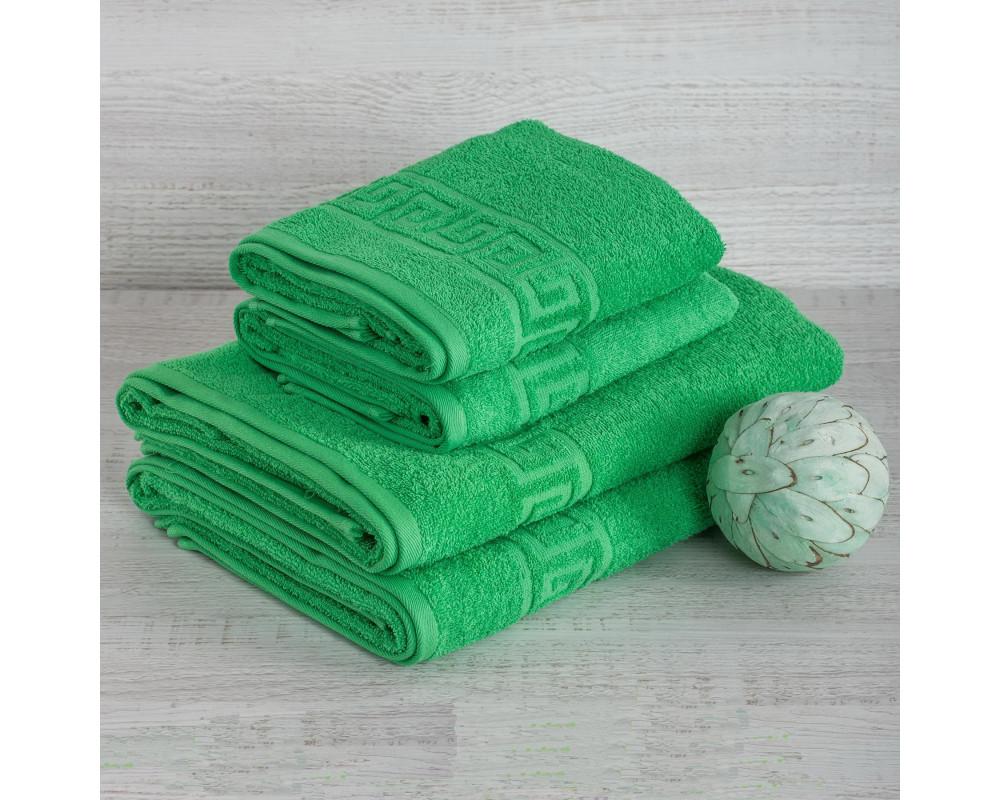Полотенце махровое 420г зеленое