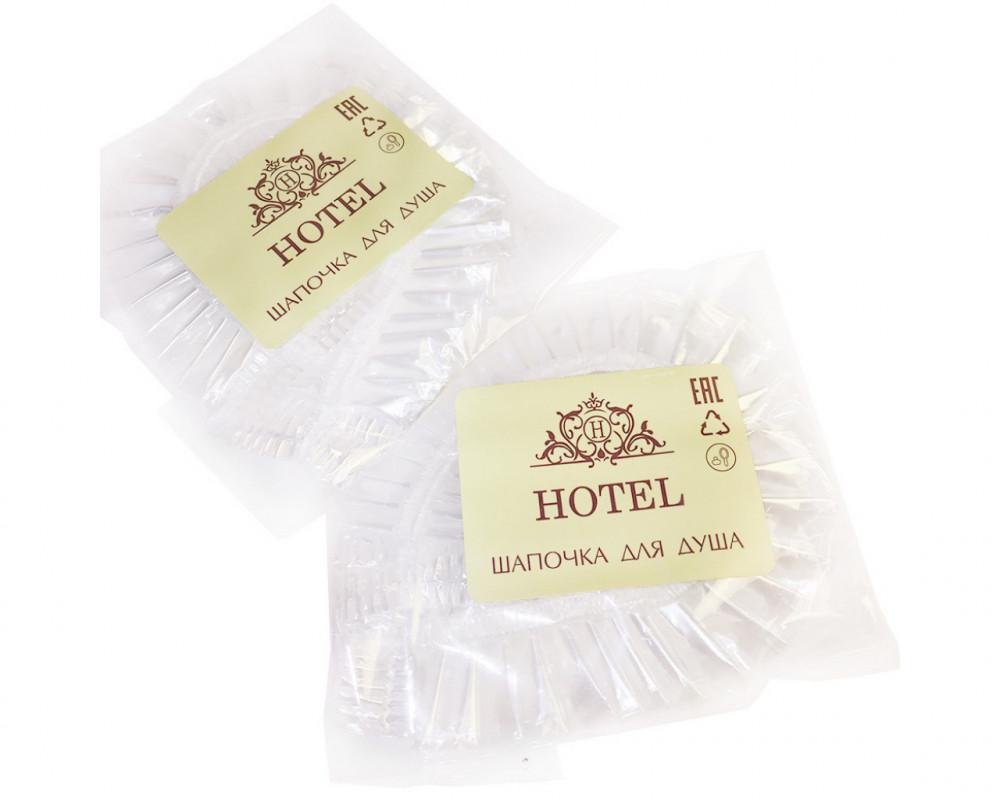 """Шапочка для душа в прозрачной упаковке """"HOTEL"""""""