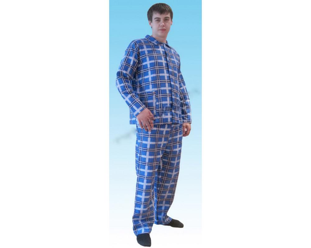 Пижама фланелевая мужская клетка