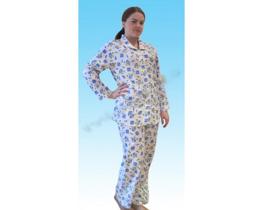 Пижама фланелевая байковая женская оптом