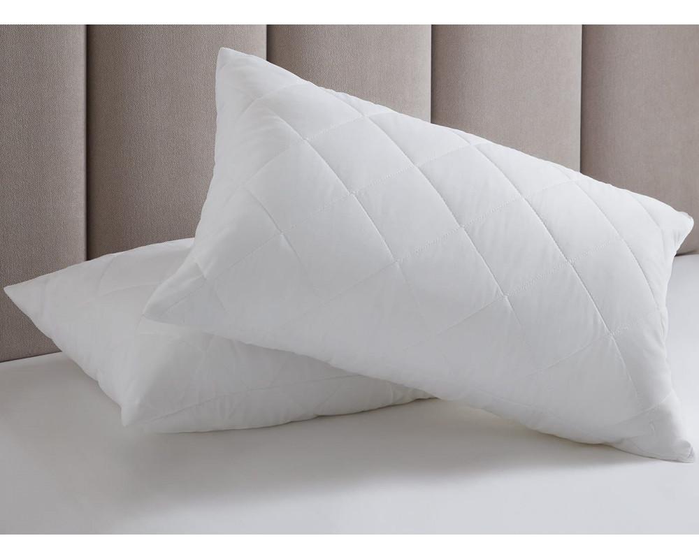 Подушка из лебяжьего пуха чехол-микрофибра
