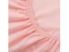 Простыня на резинке розовая